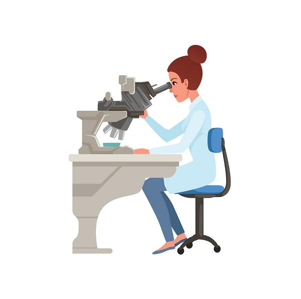 Điều chỉnh tư thế ngồi khi sử dụng kính hiển vi