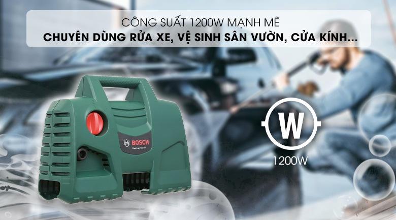 Bosch Aquatak 100 làm việc với công suất 1200W