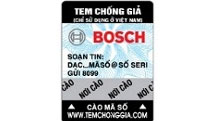Tem chống giả dụng cụ điện Bosch