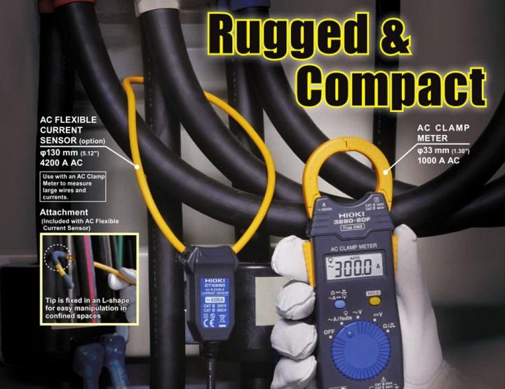 Ứng dụngcủa đầu đo dòng điện dạng kìm Hioki CT6280