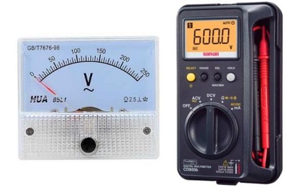 Vôn kế và đồng hồ vạn năng đều có khả năng đo hiệu điện thế
