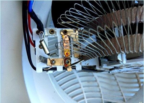Kiểm tra quạt cháy cầu chì bằng đồng hồ đo điện