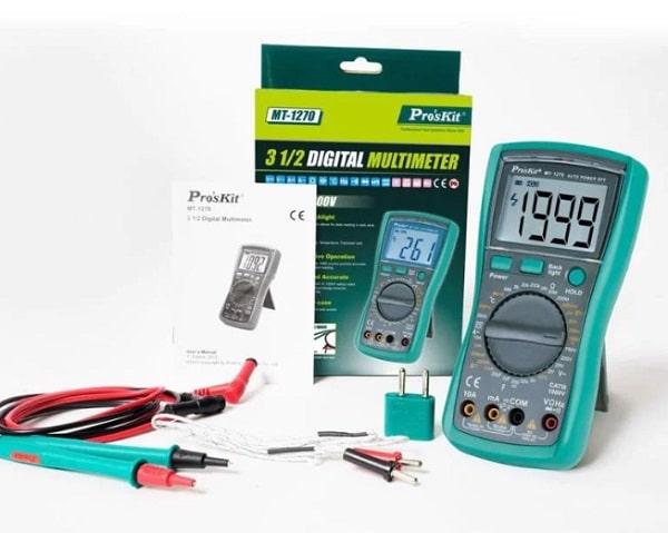 Đồng hồ đo điện tử Pro'skit MT-1270 hoạt động ổn định