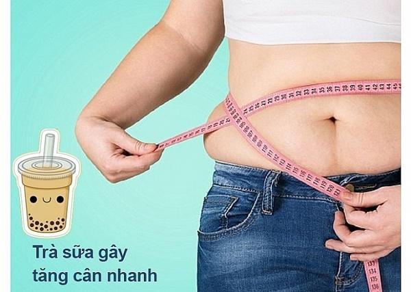 Uống trà sữa gây béo phì