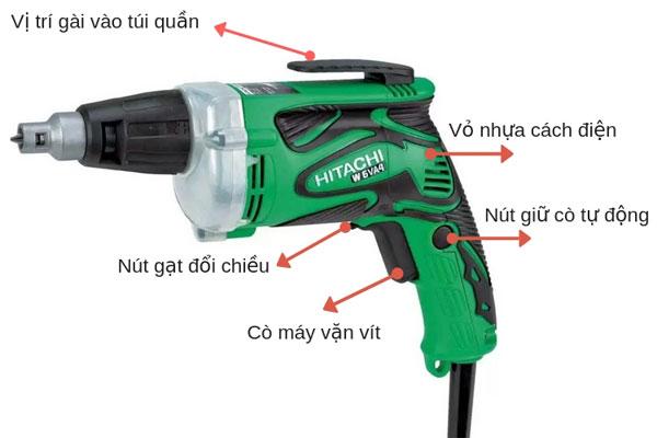 Cấu tạo máy bắn vít bằng điện