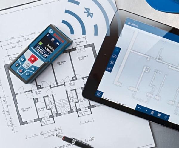 Bosch GLM 50 C cho phép đo trong phạm vi từ 0,05 tới 50m.