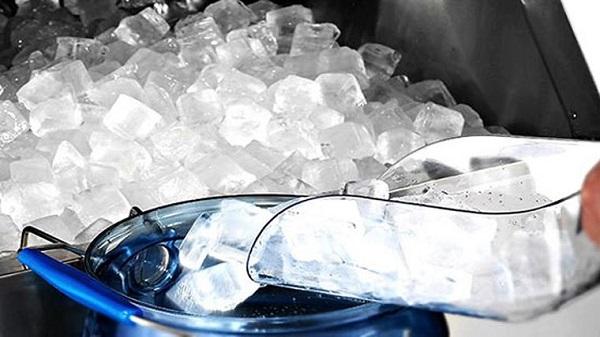 Đo nhiệt độ của nước đá trong quy trình sản xuất đá