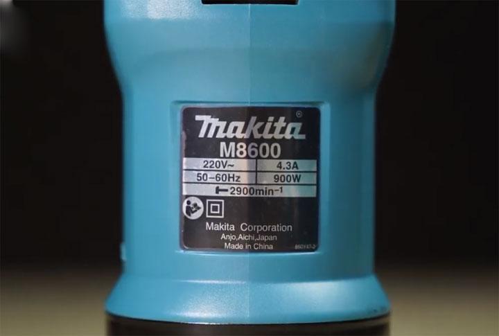 Thông số kỹ thuật máy đục bê tông Makita M8600B