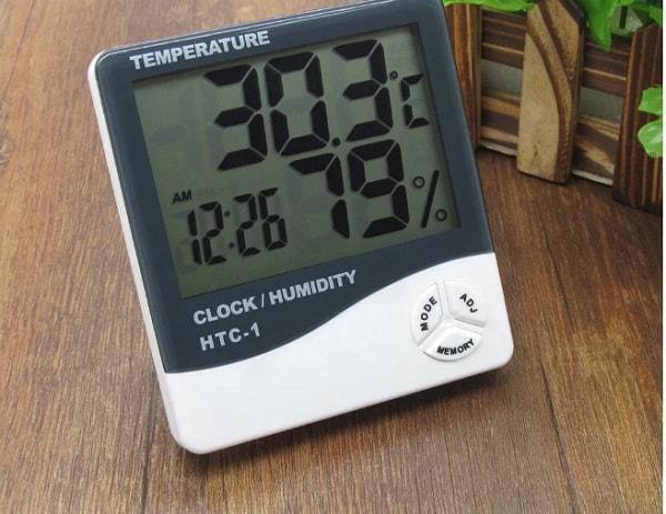 Sử dụng máy đo nhiệt độ, độ ẩm không khí HTC-1 đơn giản
