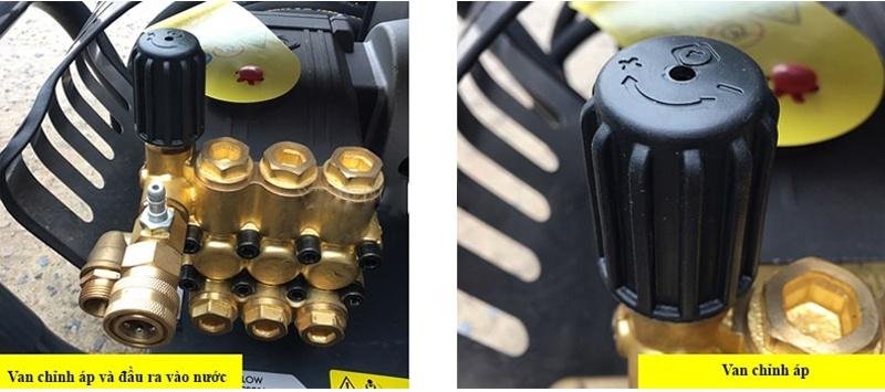 Van chỉnh áp trên máy rửa xe cao áp