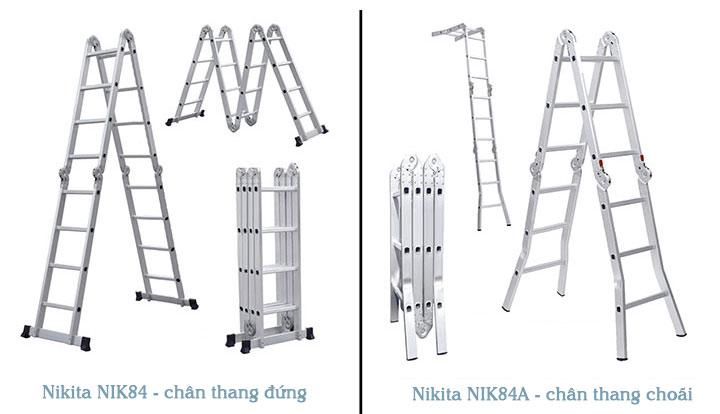 Hình ảnh thang nhôm gấp 4 đoạn Nikita NIK84A