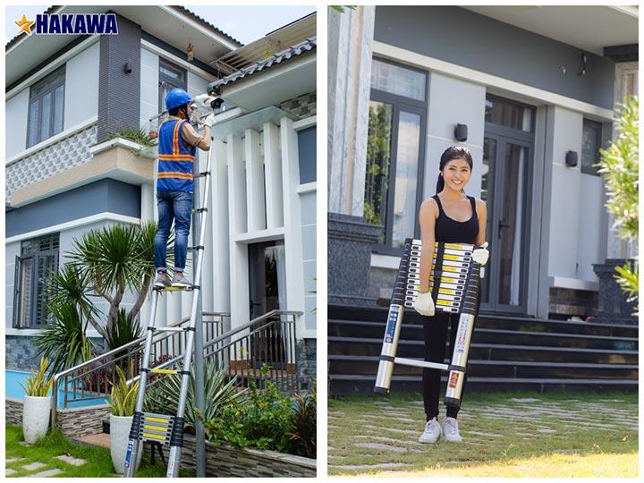 Hình ảnh thang nhôm rút gọn đơn Hakawa HK150