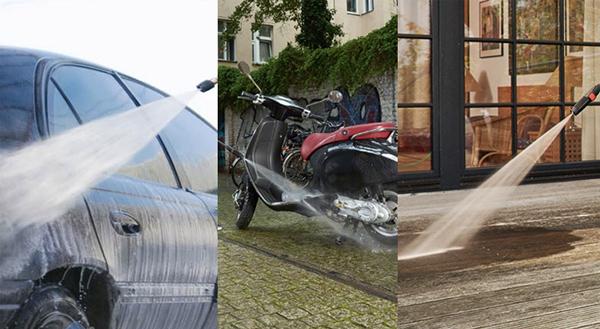 Nên chọn máy rửa xe dùng điện, xăng hay dầu